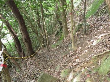 IMG_1277急坂の登山道・ロープ.JPG