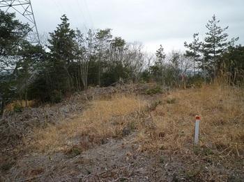 P1040759鉄塔上部平坦地の地籍図コン三角点.JPG