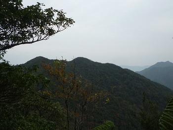 P1070001小ピーク手前のシダ尾根から丸卒塔波山.JPG