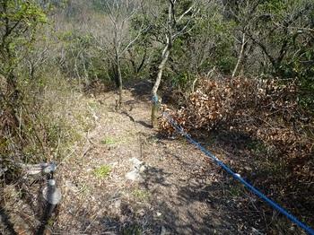 P1090180ロープが設置された登山道.JPG