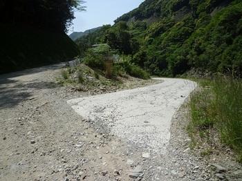 P1100095右に堰堤管理道が分かれる.JPG