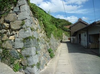P1110180民家の立派な石垣.JPG