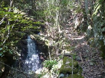 P1120087二段の小滝と沢沿いの山道.JPG