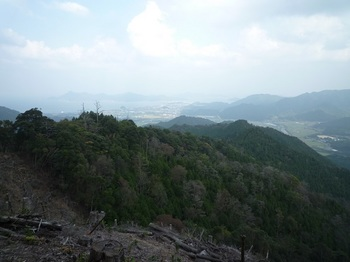 P1120302伐採地・北東尾根方向.JPG