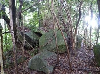 P1170560尾根上の岩.JPG