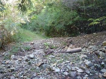 P1180658土砂が堆積した林道.JPG