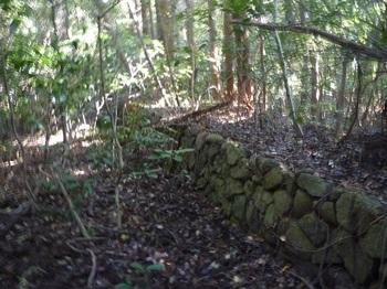 P1180894鞍部の石垣(265m).JPG