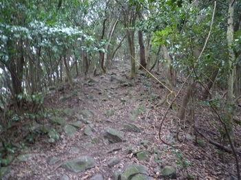 P1290826角岩の斜面・ロープ.JPG