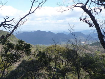 P1310463樹間展望(銑尖山・鴻ノ峰)・380m平坦ピーク付近.JPG